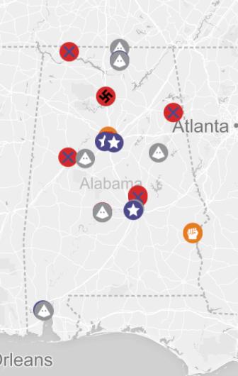 SPLC hate groups in Alabama
