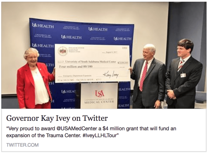 deleted Kay Ivey tweet