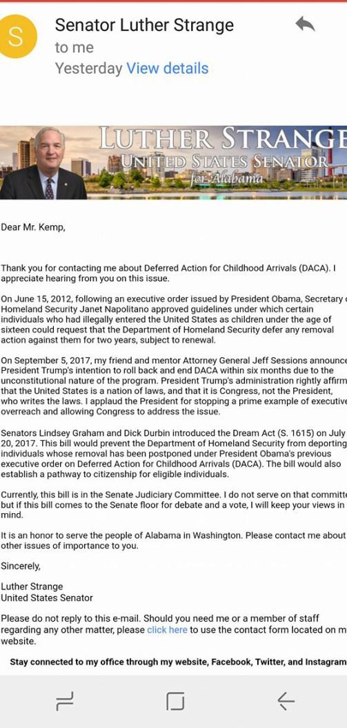 Strange_Dream Act DACA email