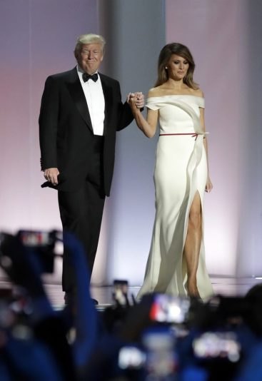 Melania and Donald Trump at Inaugural ball