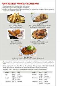 Chicken Day leaflet 2
