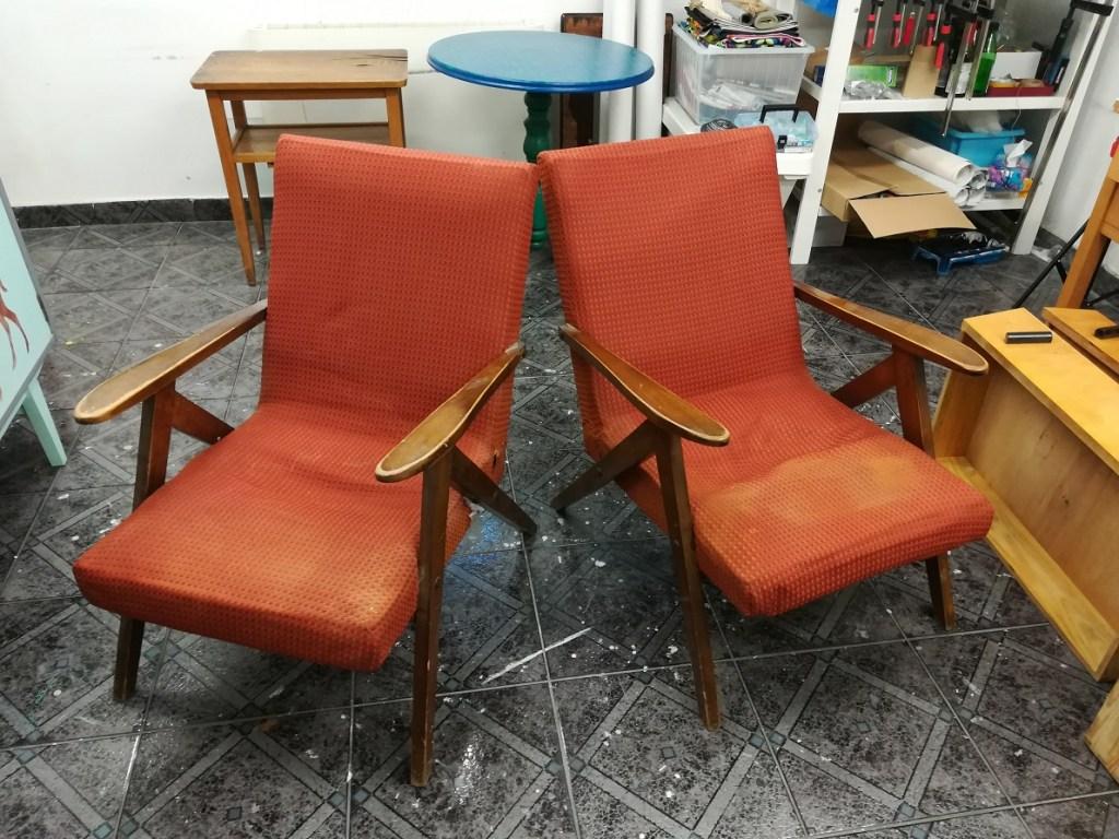 Renowacja foteli PRL