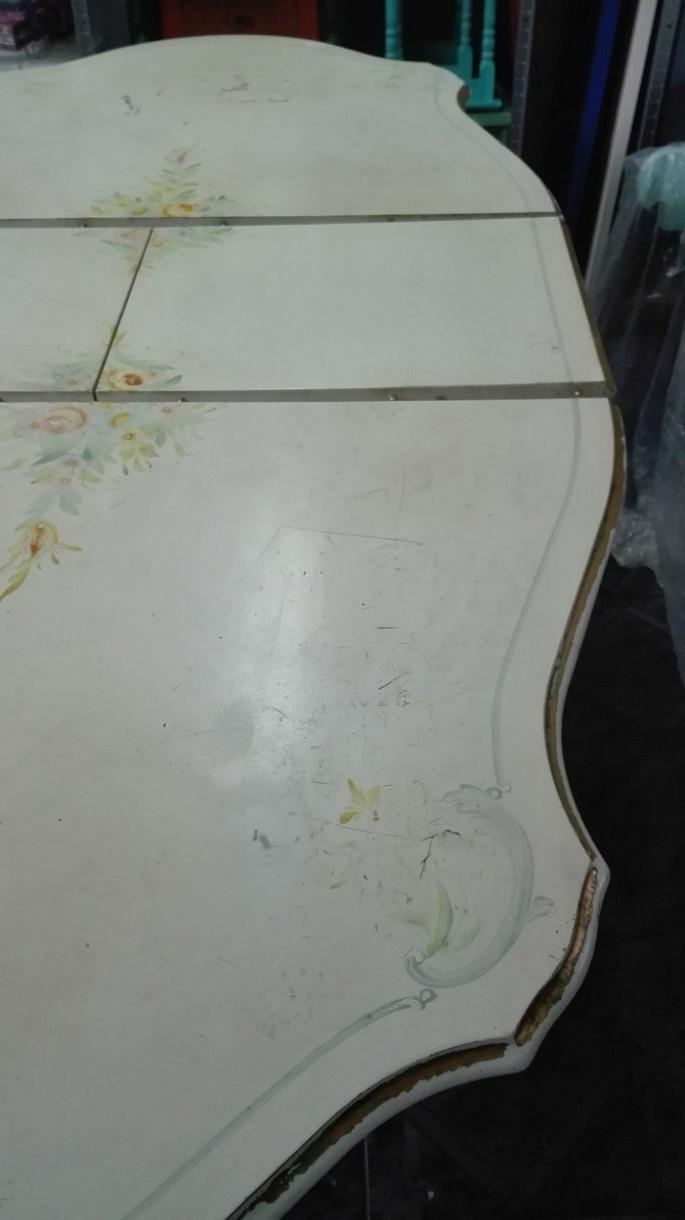 Stół neorenesansowy - malowany blat