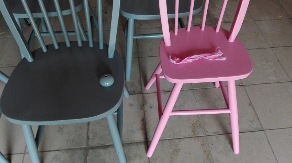 Malowanie krzeseł z IKEA