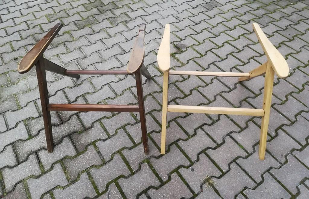 Oczyszczanie drewna - szlifowanie stelaży starych foteli