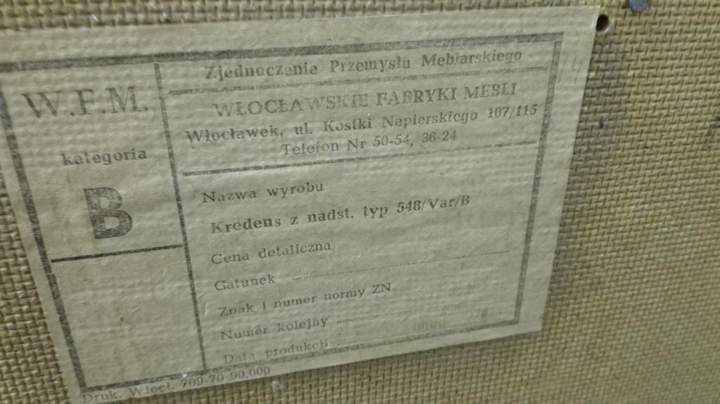 Etykieta :Wrocławskie Fabryki Mebli