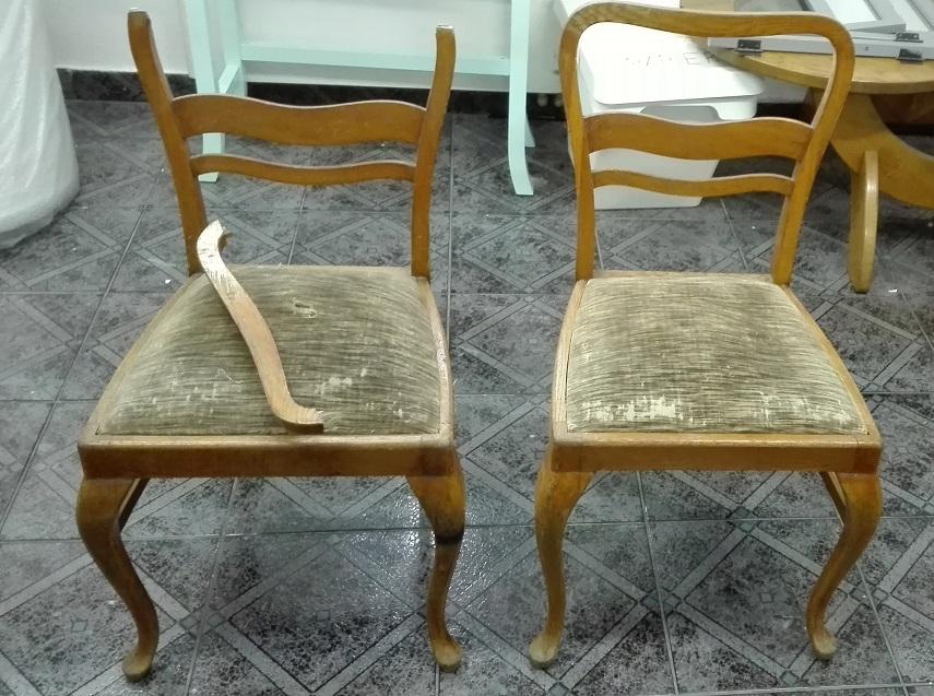 Krzesła art deco na ludwikowskich nóżkach