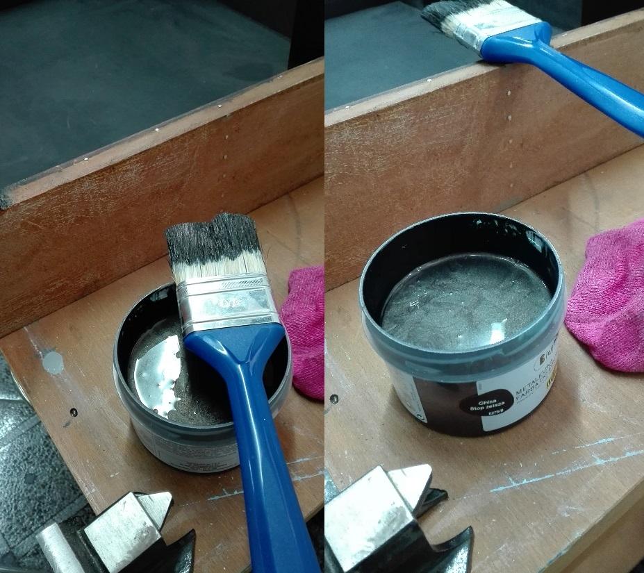 Malowanie farbą metaliczną do drewnawa