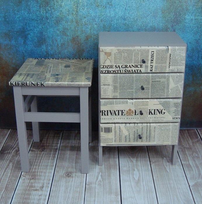 Oklejanie mebli gazetami