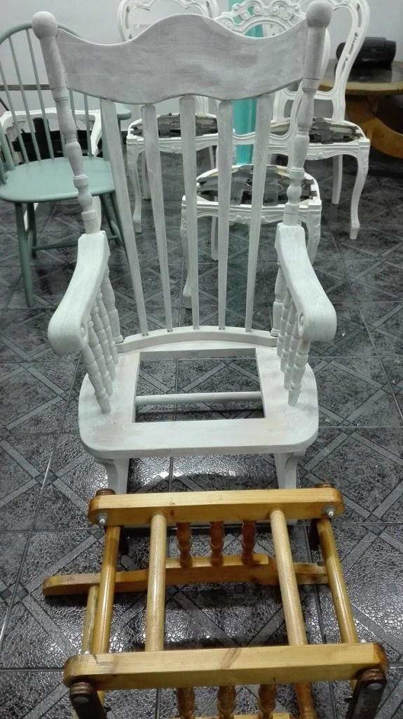 Odnawianie fotela bujanego