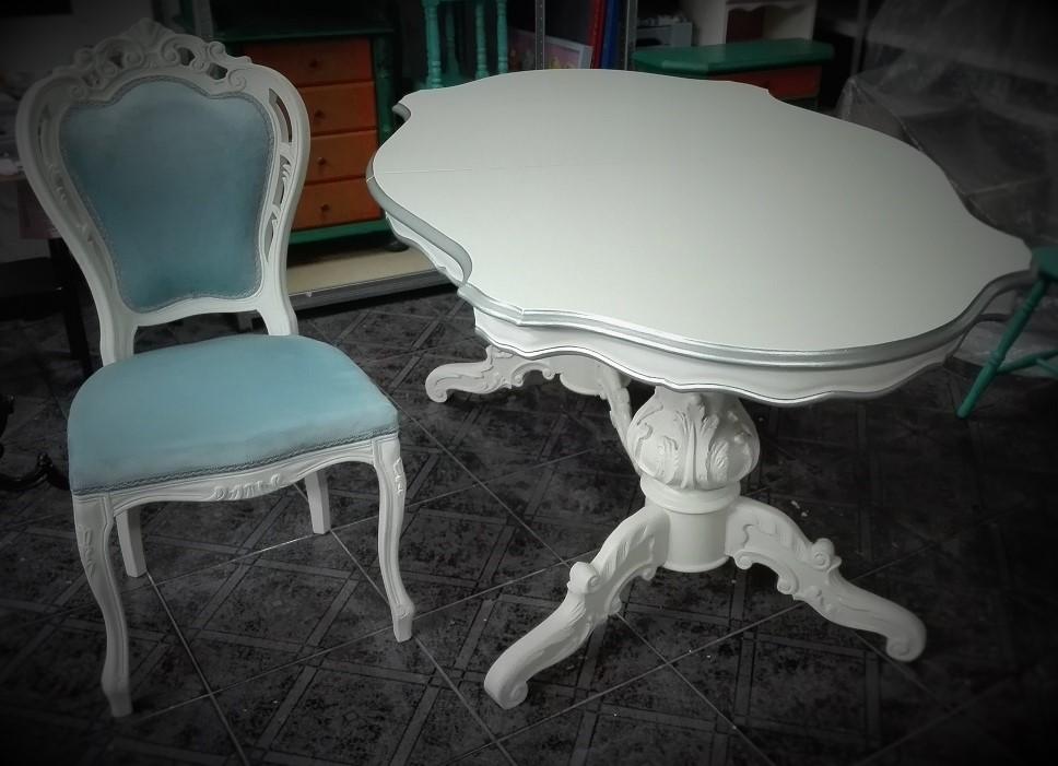 Stół do jadalni w stylu francuskim eleganckim pałacowym