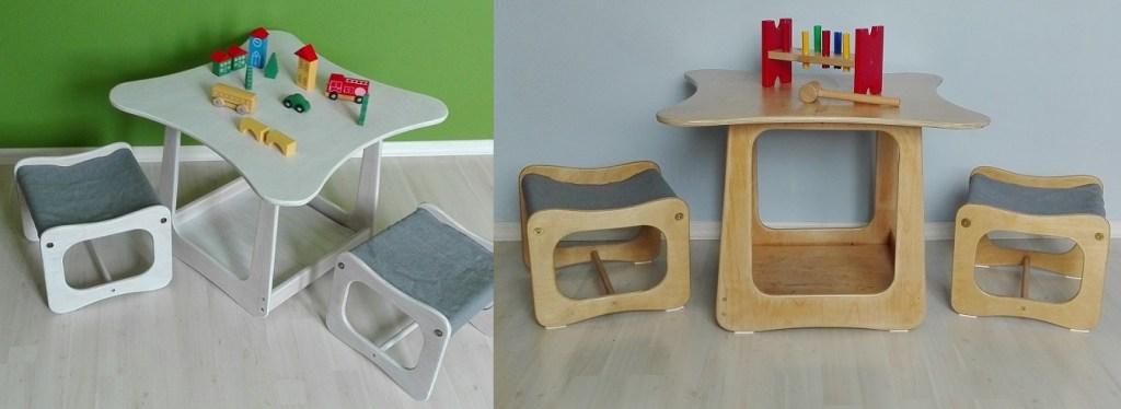 Meble dziecięce: stolik i dwa krzesełka