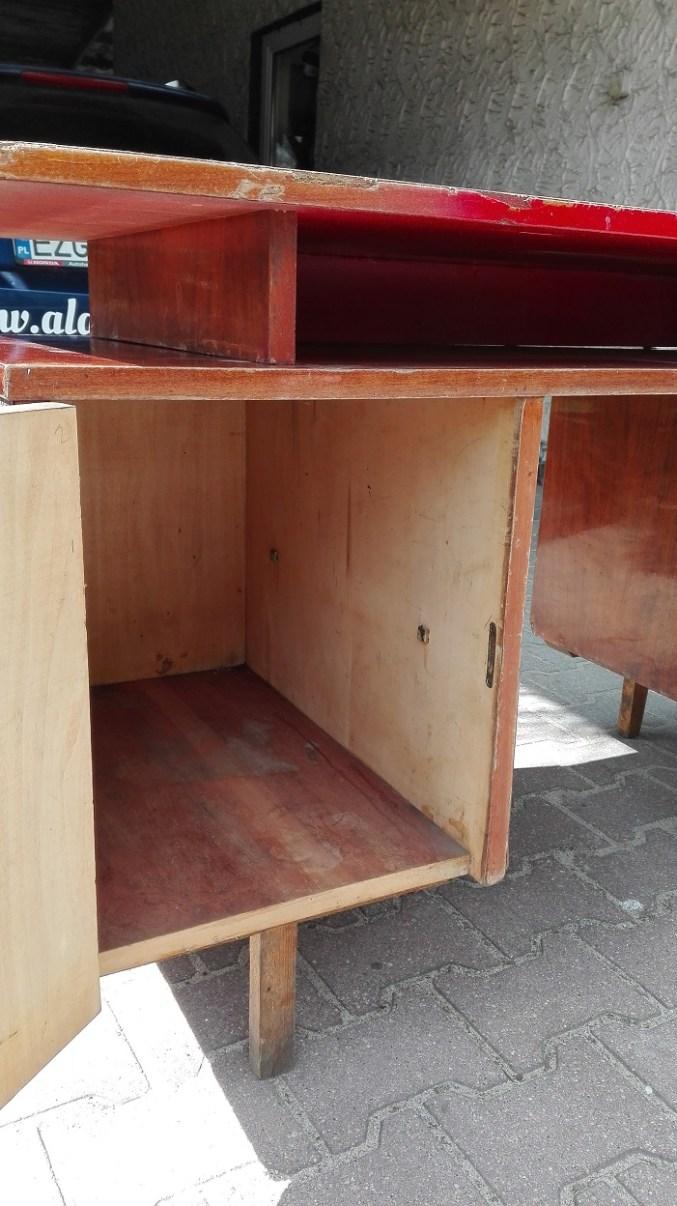 Renowacja starego biurka z PRL