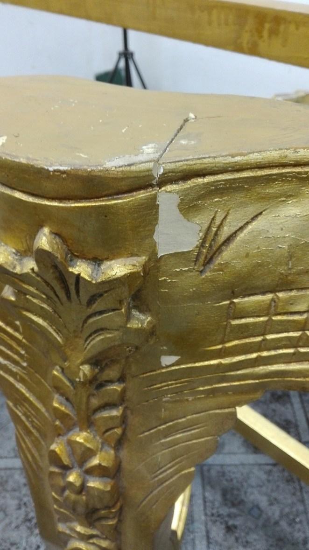 Złote barokowe meble do renowacji