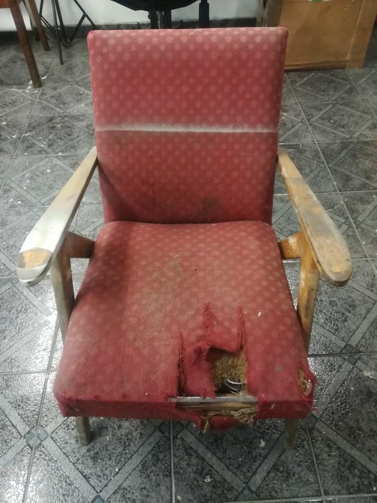Odnawianie fotela PRL