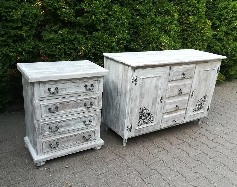 rustykalne meble malowane z przecierką