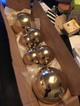 brass balls we had made for newel posts