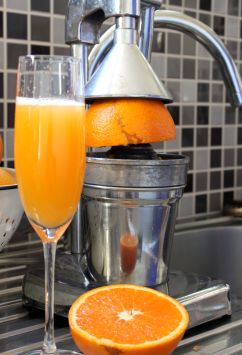 Fresh squeezed orange juice - perfect for Mimosas!