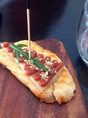 Jamon and Manchego cheese croquetta with quince aioli