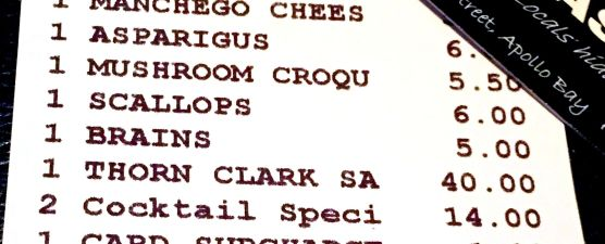 Odd to see BRAINS on a restaurant bill