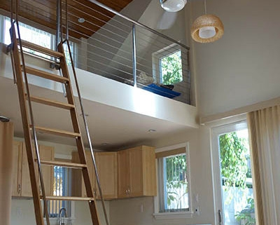 Pivotal Loft Alaco Ladder   Folding Loft Stairs With Handrail   Circle Stair   Design   Limited Space   Stairway Osha   Semi Automatic