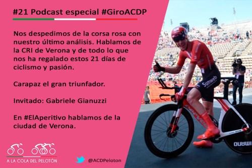 ciclismo podcast giro italia verona