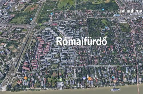 A történelmi Római-part Rómaifürdőn.