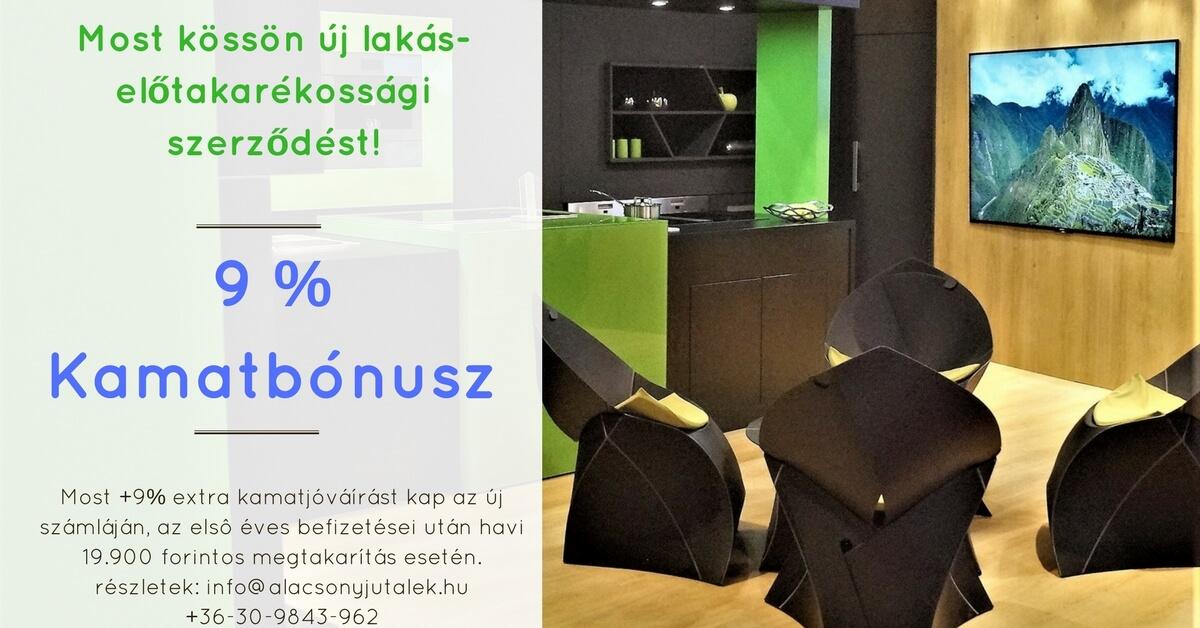 Lakástakarékpénztár Fundamenta 9 % kamatbónusz akció