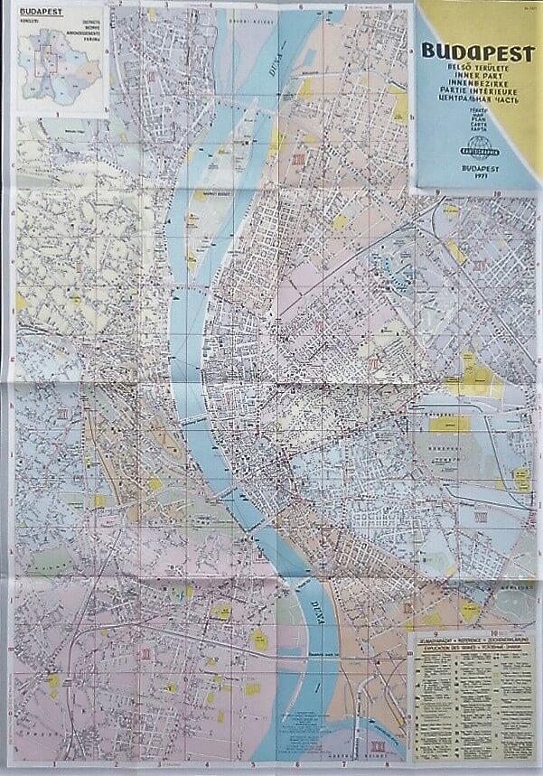 Budapest Belső Területe térkép 1971