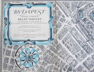 Budapest távlati panoráma térkép 1963