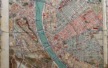 Budapest Székesfőváros régi térkép 1909