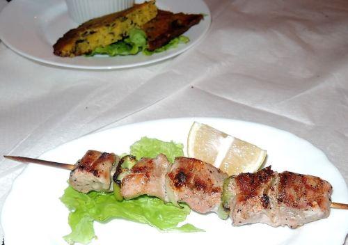 Albánia konyha étel saslik