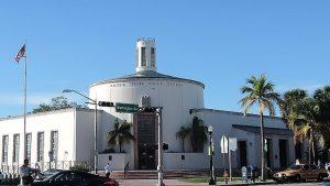 Art Deco negyed Miami Beach Florida posta