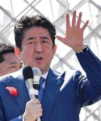 「うるさーい」安倍晋三首相へのやじに女性が一喝! 秋田・能代の街頭演説