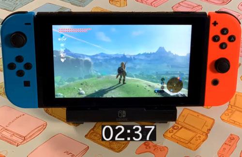 マイナーチェンジ版スイッチ、バッテリー駆動時間の検証動画公開!『ゼルダBotW』でこれだけ長持ちする!