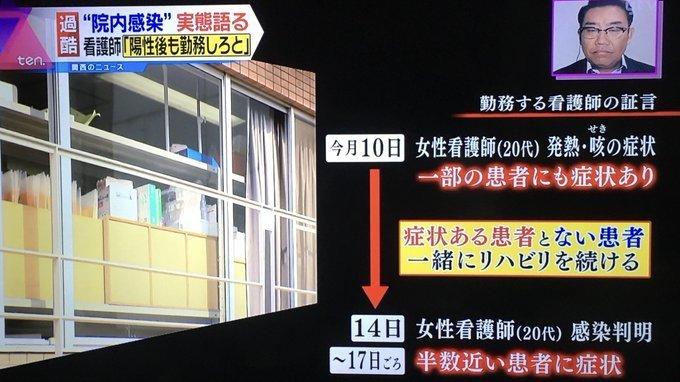 大阪の病院 看護師、陽性にも関わらず勤務続ける 人手不足で止むを得ず