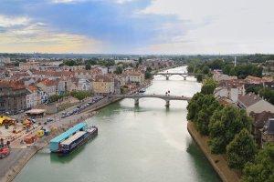 Vue aérienne de Lagny-sur-Marne - Péniche