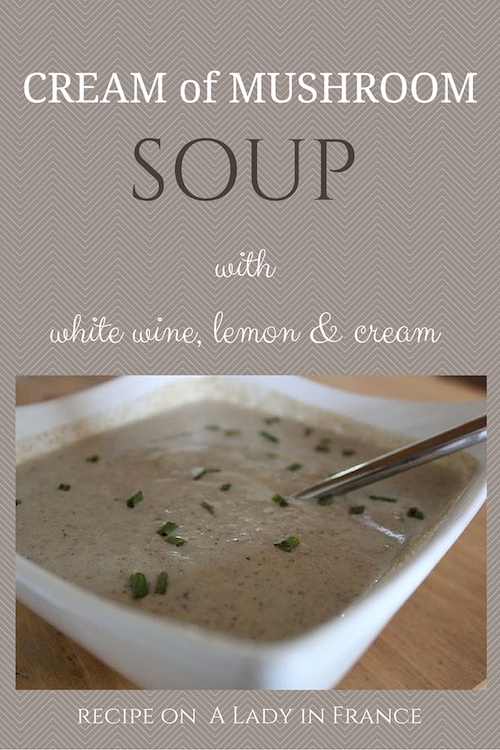 It's the slightly sour taste that makes this cream of mushroom soup taste so perfect. Puréed cream of mushroom soup with white wine, lemon and cream.