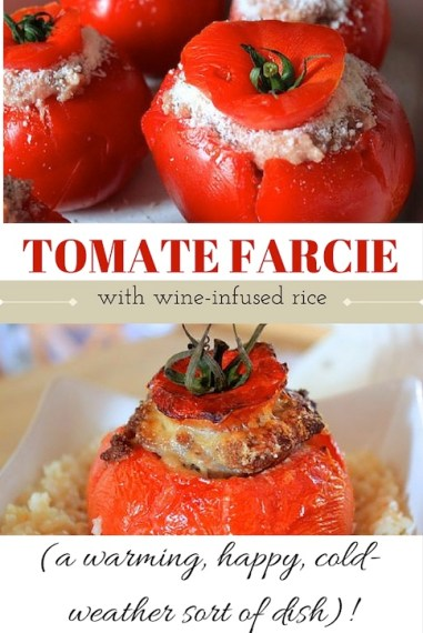 Stuffed tomatoes over wine-infused rice. Perfect for a cold day! @aladyinfrance