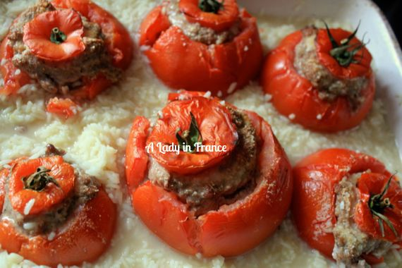 tomato farcie with rice