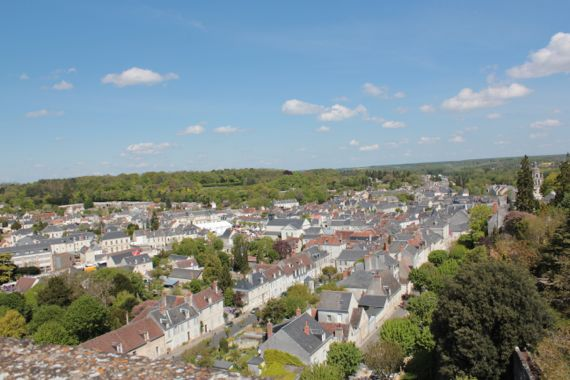 And this is the view of the city of Loches outside of the wall.