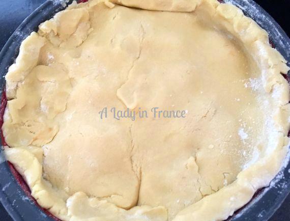 gluten-free peach tarte tatin