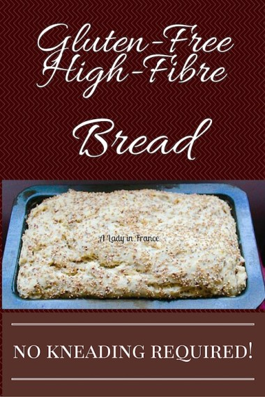 This high-fibre gluten-free bread can be made in the cuisinart. No kneading required!