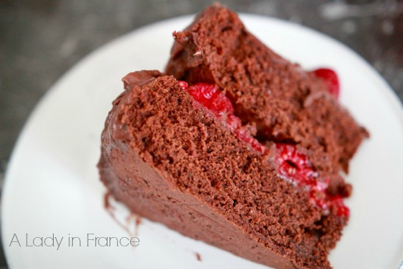 gluten-free vegan chocolate raspberry cake