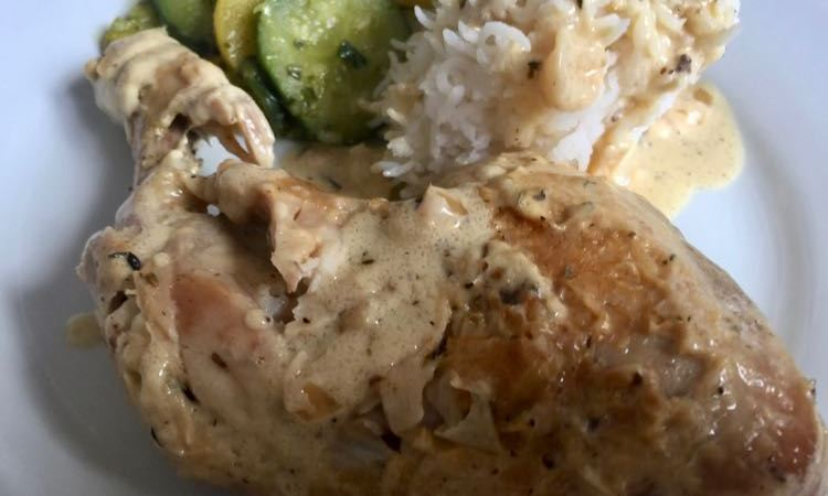 Creamy Dijon Roast Chicken Legs