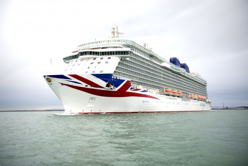 First glimpse of Britannia, P&O Cruises brand new cruise ship