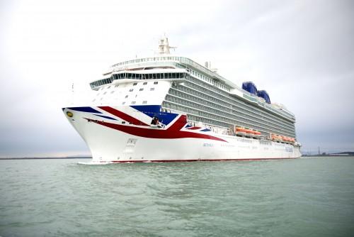 First glimpse of Britannia, P&O Cruises brand new cruise ship