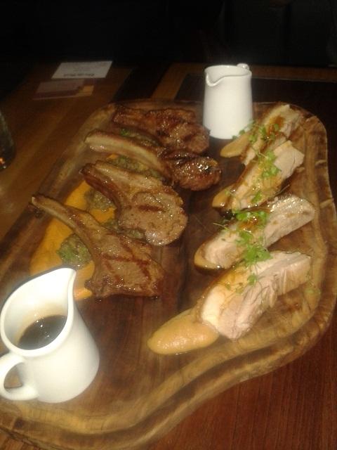 Heddon Street pork belly and Hardwick lamb