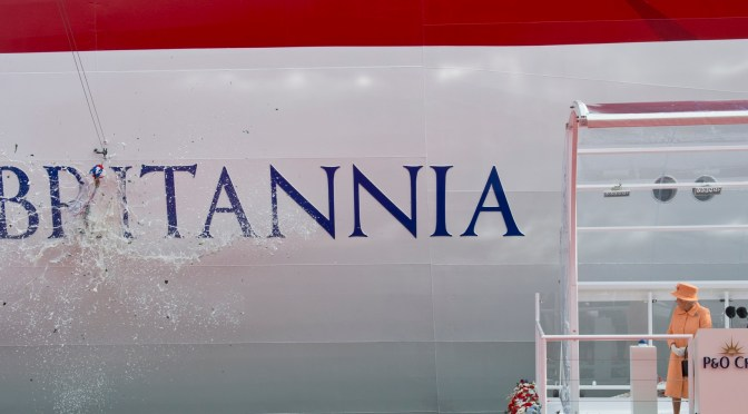 The Queen launches P&O Cruises new ship Britannia