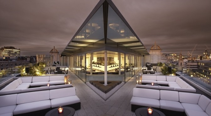 A room (and cocktails) with some serious views at ME London luxury hotel